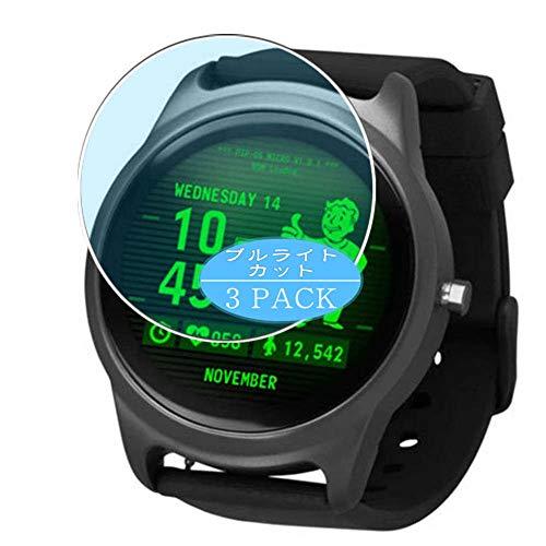 VacFun 3 Piezas Filtro Luz Azul Protector de Pantalla, compatible con Fallout smart watch Smartwatch, Screen Protector Película Protectora(Not Cristal Templado) NEW Version