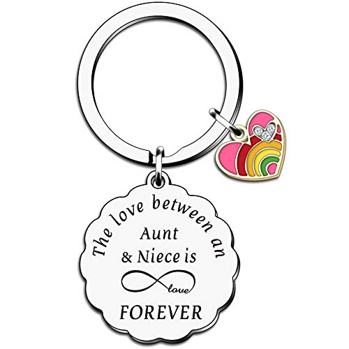 HULALA Auntie and Niece Keyrings for Women Girls Birthday Christmas Gifts The Love Between an Aunt &...