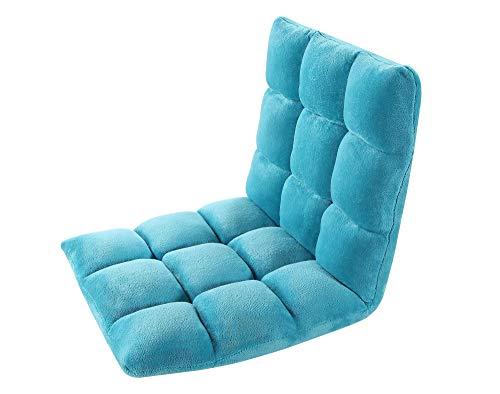 Iconic Home Daphene Adjustable Recliner Rocker Memory Foam Armless Floor Gaming Ergonomic Chair, Aqua