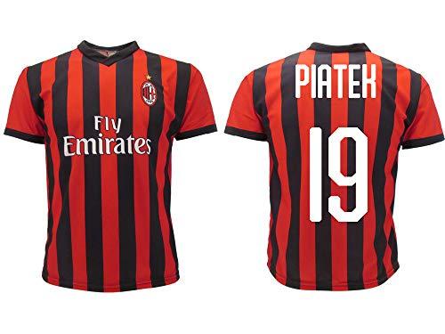 Camiseta Jersey Futbol Milan Piatek 19 Replica Oficial Autorizado 2018-2019 Niños (2,4,6,8,10,12 año) Adultos (Small, Medium, Large, Xlarge) (Xlarge)