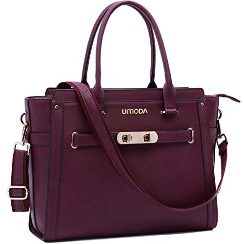 Laptop Bag for Women,15.6 Inch Multi Pocket Padded Laptop Tote Bag,Computer Bags for Women,Burgundy