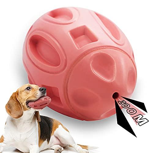 Cebese Quietschendes Hundespielzeug Unzerstörbar, Robuster Quietschspielzeug Ball mit quietsche Langlebiger Hund Spielzeug Spielze für Starke Aggressive Kauer für Große Mittlere Hunde welpen Rassen