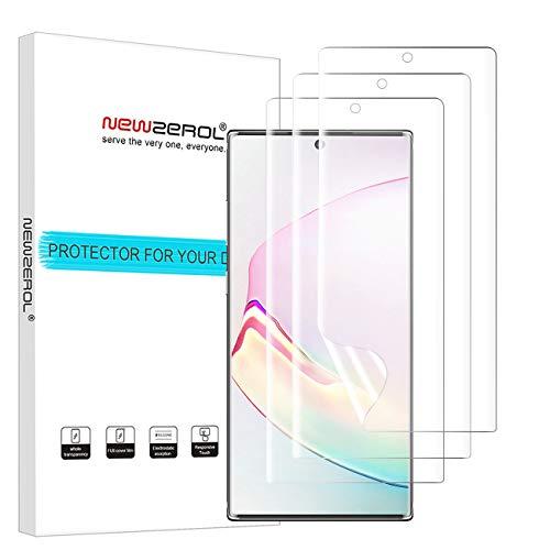 NEWZEROL Ersatz für Samsung Galaxy Note 10 Plus/Note 10+/5G Bildschirmschutzfolie, 3 Pack Fingerabdruckerkennung auf dem Display hohe Qualität Anti-Bubble TPU mit klar Lebenslange Ersatzgarantie