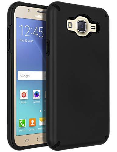 SENON Galaxy J7 (2015) Case,Galaxy J7 Case, Slim-fit Shockproof Anti-Scratch Anti-Fingerprint Protective Case Cover for Samsung Galaxy J7 Neo J700,Black