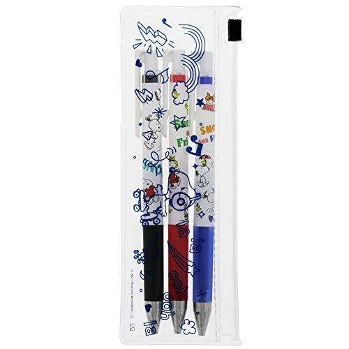 サンスター文具 スヌーピー ゲルインキボールペン ジュースアップ 0.4mm 3本セット ベーシック S4647726