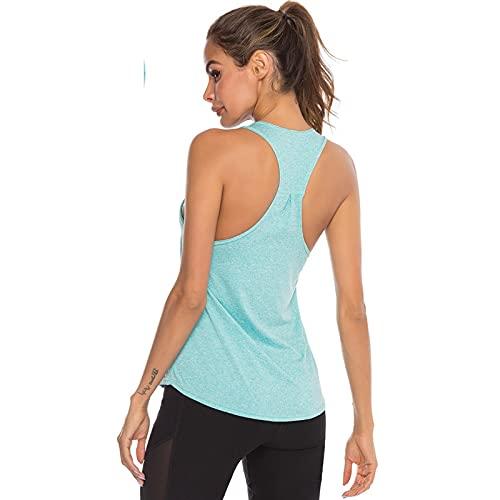 Mujeres Deportes Camiseta Sin Mangas - Casual Moda Sudor Absorbente Camisola Transpirable, Jogger Montar...