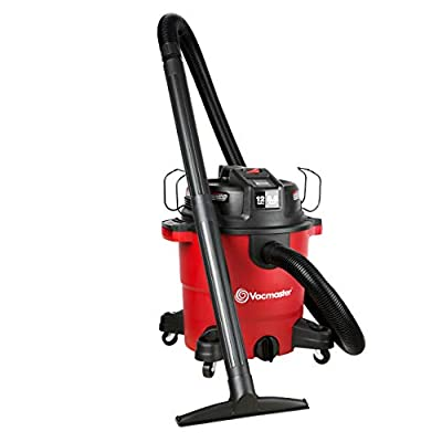 Vacmaster Red Edition VJH1211PF 1101 Heavy-Duty Wet Dry Vacuum Cleaner 12 Gallon 5.5 Peak HP 2-1/2 inch Hose