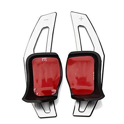 DSG Schaltwippen Verlängerung Schaltug Shift Paddle für Golf 5 Golf 6 MK5 MK6 GTI R32 R R20(Silber)