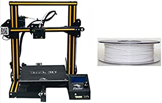 WOL 3D UPGRADED Creality Ender 3 With PLA White filament 1.75 mm