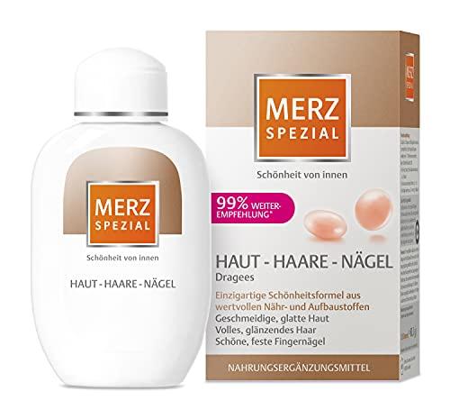 Merz Spezial Dragees Haut Haare Nägel – Nahrungsergänzungsmittel für geschmeidige Haut, volles glänzendes Haar und schöne, feste Fingernägel – 120 Stück für 2 Monate