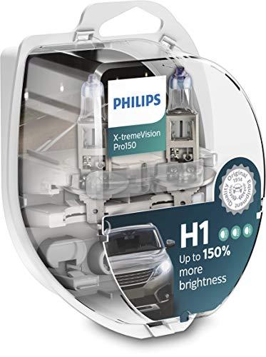 Philips X-tremeVision Pro150 H1 bombilla faros delanteros +150%, paquete doble