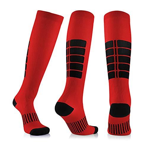 3 Para Antifatigue Unisex Kompressionsstrümpfe Strümpfe Kompression Compression Socks Medizinische Krampfadern Bein Relief Schmerzen Rot Groß