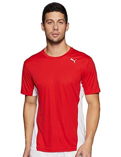 Puma Cross The Line tee Camiseta, Hombre, Red White, XXL