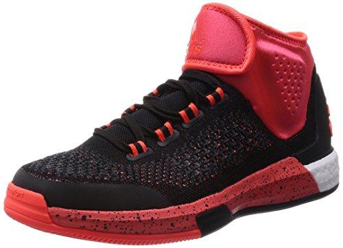 adidas Herren Basketball Schuhe , Mehrfarbig - Orange/Schwarz - Größe: 48 2/3 EU