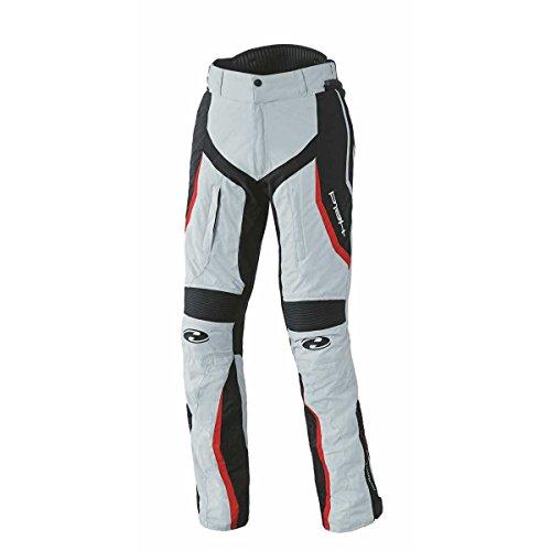 Held Link sportliche Damen Motorradhose, Farbe grau-rot, Größe D-M