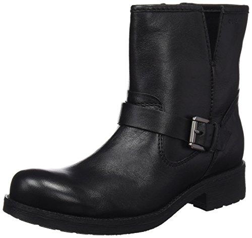 Geox Damen D New Virna E Biker Boots, Schwarz (Black), 39 EU