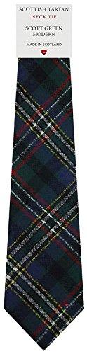 I Luv Ltd Cravate en Laine pour Homme Tissée et Fabriquée en Ecosse à Scott Green Modern Tartan