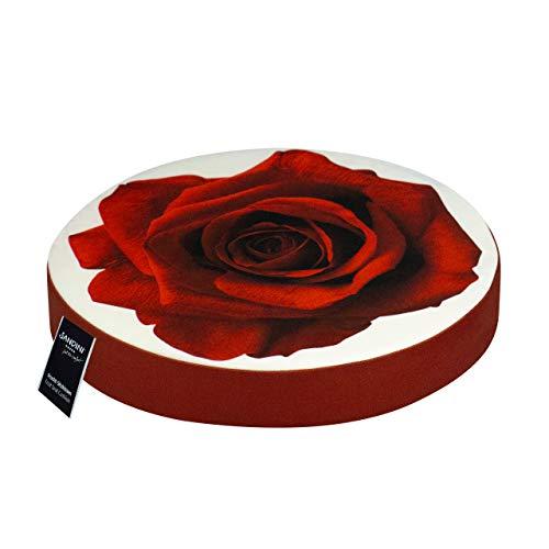 SANDINI zitkussen bloemmotief - Voor tuin/woonkamers - 38 x 6 cm