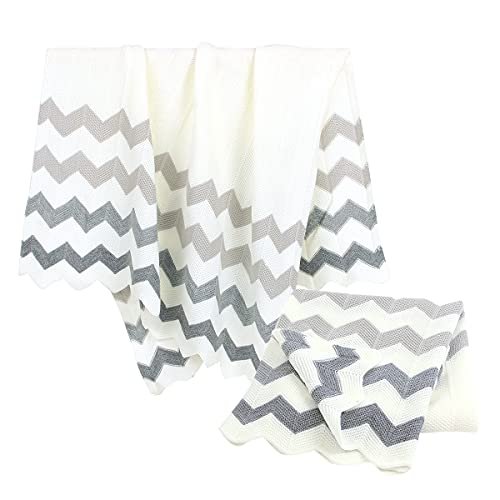 Baby Blanket Cellular Blankets Knitted Baby Blanket Newborn Pram/Travel/Moses Basket (100x80cm) Grey