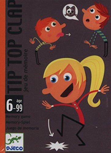 Djeco- Tip Top Clap, Juego de Cartas, Multicolor (DC5120)