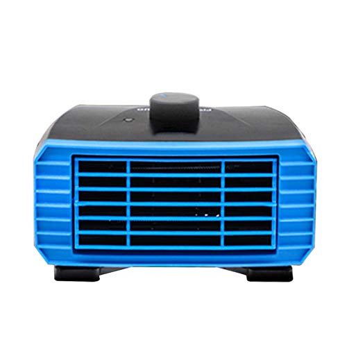 EET Tragbarer 12V Auto-150W Heizung Auto Windschutzscheibe Schnell Defroster Defogger 2 in 1 Heizen Und Kühlen Automobil Demister, Blau, Winter