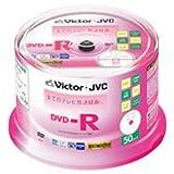 JVCケンウッド(ビクター) 録画用DVD-R 120分 16倍速 CPRM対応 ホワイトプリンタブル 50枚スピンドルケース VD-R120VQ50
