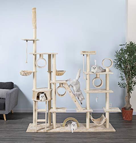 Go Pet Club Cat Tree Condo Furniture, 108-Inch, Beige