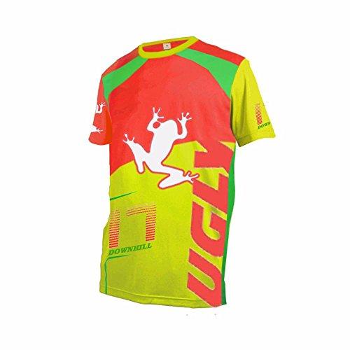 Uglyfrog Herren Sommer Kurzarm V-Kragen Motorsport Motorrad Moto Cycling Racing Racer T-Shirt