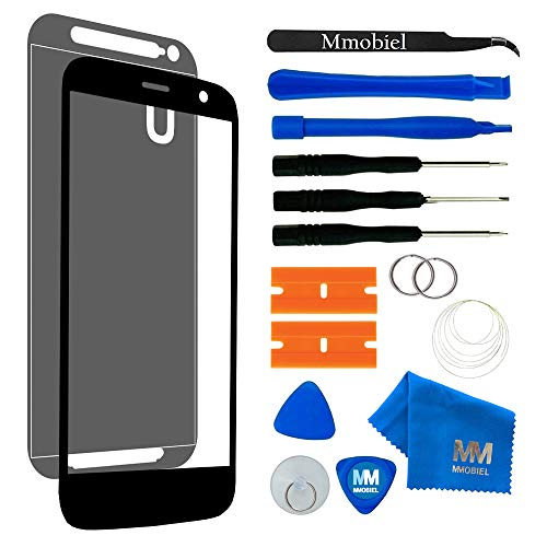 MMOBIEL Front Glass compatible with Motorola Moto G 3rd Gen Xt 1550 Replacement Kit incl tool kit (Black)
