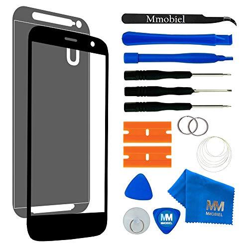 MMOBIEL Front Glas Reparatur Set kompatibel mit Motorola Moto G3 3rd Gen (Schwarz) Display Touchscreen mit Werkzeug-Set