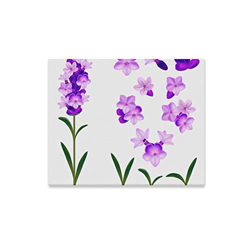 N\A Dekor Wandfarbe Lavendel Lila Charmante Blumen Wandkunst Dekor Outdoor Home Wandkunst Druck Dekor Für Zuhause 20x16 Zoll