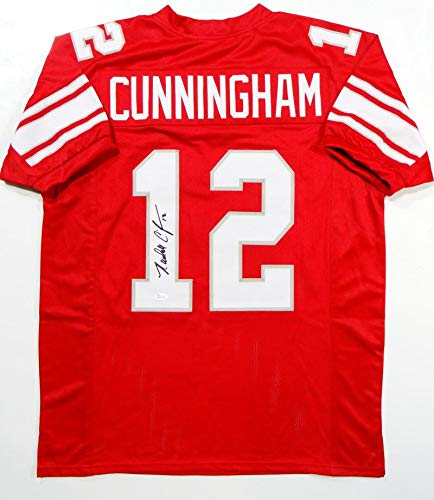 Randall Cunningham Autographed Red College Style Jersey- JSA W Authenticated 1