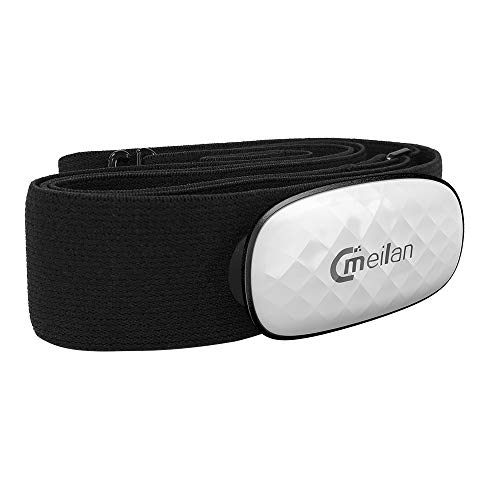 MEILAN C5 Bluetooth/ANT + Heart Rate Monitor Chest Strap Fitness Running Wireless for Cycling IPX5 Waterproof Compatible with Garmin/iPhone/Apple Watch/Workout Devices