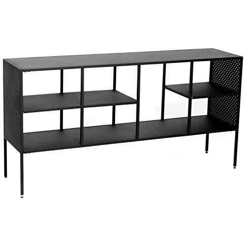 mokebo® Sideboard \'Der Tiefstapler\' Industrial Regal oder Metallregal, Designed in Denmark, B 140cm | H 70cm | T 35cm