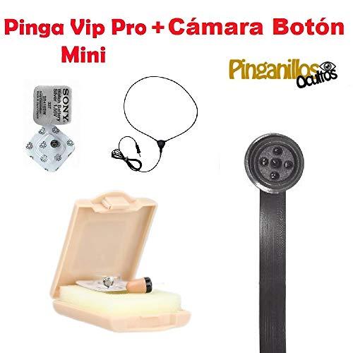 Pinga VIP Pro Mini + Cámara Botón Espía WiFi (Negro)
