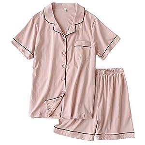 ガーゼパジャマ レディース 綿100% ルームウェア 半袖シャツ ショートパンツ上下セット部屋着 二重ガーゼ 吸汗速乾 通気 肌に優しい 脱着簡単 春夏