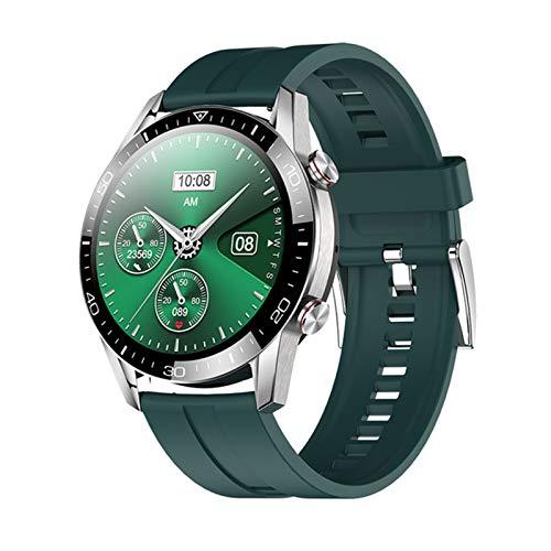 KKZ Banda Smart Watch Men's Heart Rate IP68 Impermeable Pantalla Táctil Completa Lujo Smartwatch Hombres para iOS Android,B