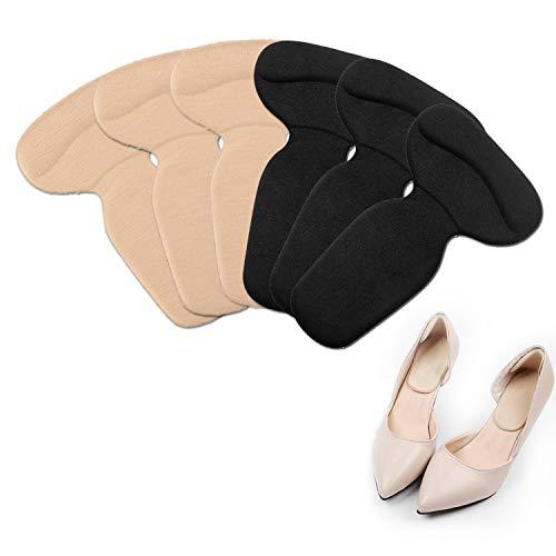 EAN [Paquete de 6] Protector de talón, almohadilla de talón de espuma viscoelástica, forro de plantilla de tacón alto, puede aliviar el dolor de talón, adecuado para hombres y mujeres