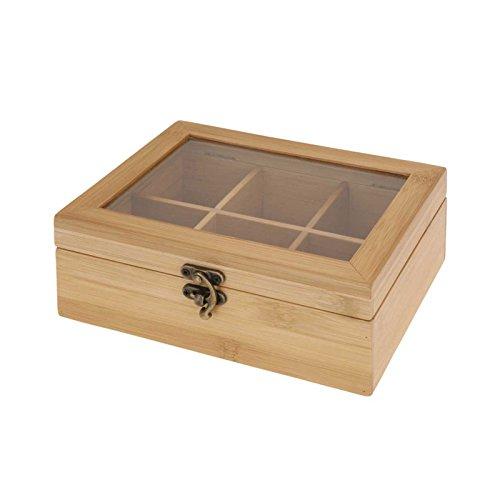 Teebox Aufbewahrung Teebeutel Teekasten Teekiste Bambus