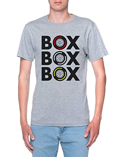 Box Box Box Tyre Compound T-Shirt Herren Grau T-Shirt Men's Grey
