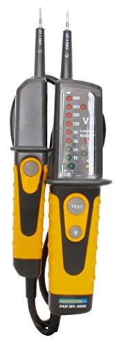 Kopp 324204014 Spannung- und Durchgangsprüfer MV 690A, 2polig mit LED Anzeige und FI-Prüftaste, gelb/schwarz