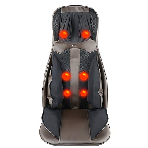 GESS817 Back Massager Shiatsu Massage Seat Cushion for Full Back and Neck with Heat
