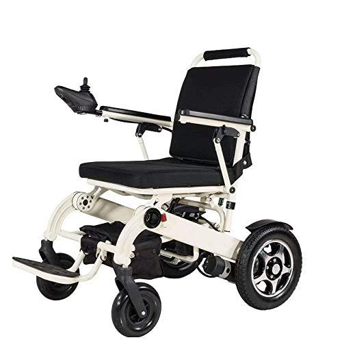 FTFTO Inicio Accesorios Ancianos Discapacitados Silla de Ruedas Luz Plegable Silla eléctrica eléctrica Plegable Anciano Scooter Doble Motor Potente Transporte portátil Viaje