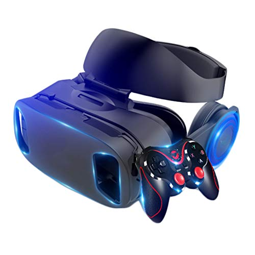 Dis-po VR Headset 3D Headset version IMAX Virtual Reality Helmet 3D Movie Games With Headphone 3D VR Glasses optional controller