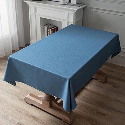 XQSSB Mantel de Tela Impermeable Antimanchas Resistente All'Usura Spessa Disponible en Varias Medidas BLU Scuro 120 × 160cm