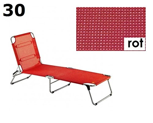 jan Kurtz Amigo 30 rot dreibein sonnenliege fiam strandliege Aluminium + textilene rot