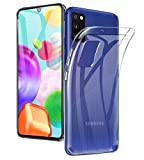 A-VIDET Hülle für Samsung Galaxy A41,Superdünnes Silikon Softschale R&umschutz Anti-Fall Gehäuse Einfache Rückenschutzhülle für Samsung Galaxy A41