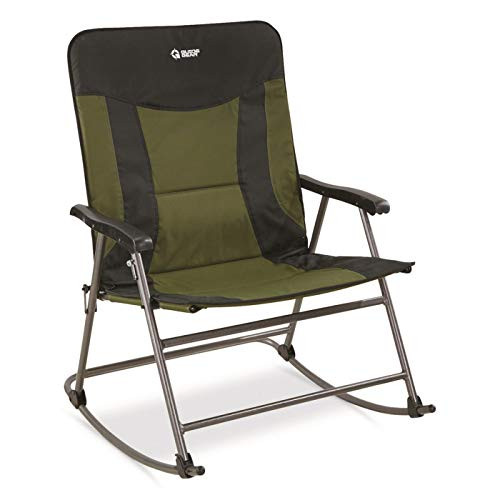 Guide Gear Oversized XXL Rocking Camp Chair, 600-lb. Capacity, Green/Black, Hunter Green/Black