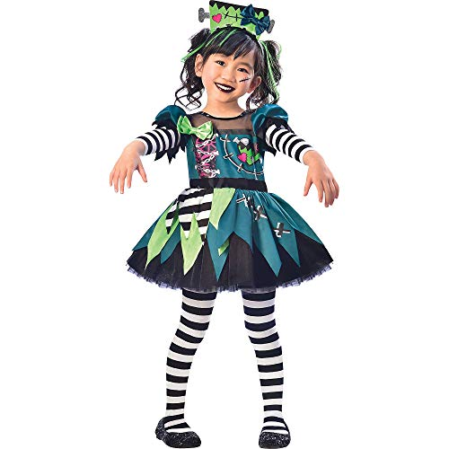SUIT YOURSELF Monster Miss Halloween Costume for Toddler Girls, 3-4T, Includes Headband, Multicolor (8402362)