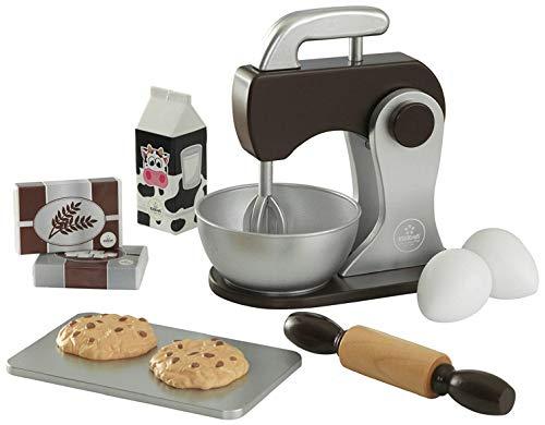 KidKraft 63370 Backspielset Spielzeug-Set zum Kochen und Backen, Espressofarben